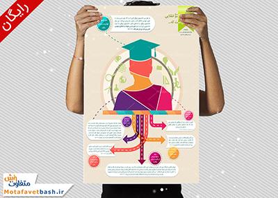 لایه باز طرح اینفوگرافیک روز دانشجو